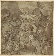 Study for the Allegory of San Gimignano and Colle Val d'Elsa