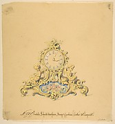 Design for a Clock with Two Cherubs