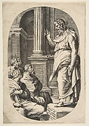 Saint Paul Preaching, an oval composition