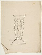 Desing for a base or support with three female figures