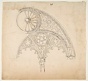 Drawing After an Architectural Fragment