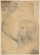 Youth with Right Arm Raised in a Shoulder-Length Portrayal (preparatory study for St. Sebastian)