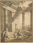 Artist Among Ruins