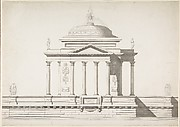 Elevation of a Domed Corinthian Temple