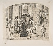 The printer Valère Maxime being presented to King Louis XI, after an earlier miniature