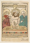 The Man of Sorrows between the Virgin and Saint John (Schr. 996)