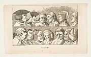 Plate IV, from Rules for Drawing Caricaturas