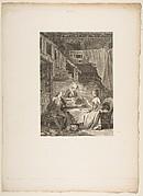 Le Faucon, La Coupe Enchantee, from Contes et nouvelles en vers par Jean de La Fontaine.  A Paris, de l'imprimerie de  P. Didot, l'an III de la République, 1795