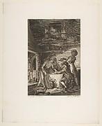 Le Pate d'Anguilles, from Contes et nouvelles en vers par Jean de La Fontaine.  A Paris, de l'imprimerie de  P. Didot, l'an III de la République, 1795