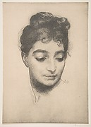 Woman's Head, from L'Estampe Moderne