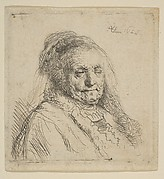 Rembrandt's Mother: Head and Bust Three Quarters Right