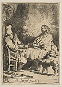 Christ at Emmaus: The Smaller Plate