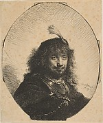 Self-Portrait with Plumed Cap and Lowered Sabre