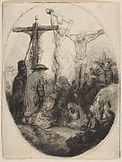 Christ Crucified Between Two Thieves; oval plate