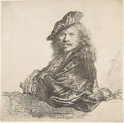Self-Portrait, Leaning on a Stone Wall