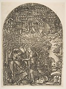The Angel shows Saint John the New Jerusalem, from the Apocalypse