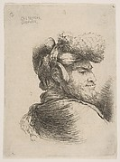 Man in Profile Wearing a Fur Hat
