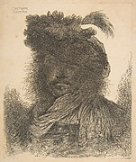 Head of a Man plunged in Shadow