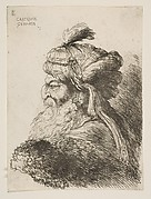 Head of an old Man with a Turban facing Left