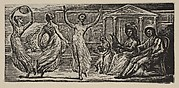 Menalcus Watching Women Dance, from Thornton's Pastorals of Virgil