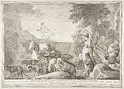 Esau con le mogli figli e sostanze si separa dal fratello giacobbe