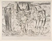 Circle of Theives: Agnello Brunelleschi Attacked By a Six-Footed Serpent , from Dante's Inferno, Canto XXVV