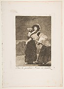 Plate 16  from 'Los Caprichos':For heaven's sake: and it was her mother (Dios la Perdone: Y era su madre)
