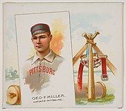 George F. Miller, Catcher, Pittsburgh, from World's Champions, Second Series (N43) for Allen & Ginter Cigarettes