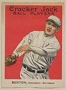 Benton, Cincinnati, National League, from the Ball Players series (E145) for Cracker Jack