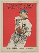 Vic Saier, Chicago, National League, from the Ball Players series (E145) for Cracker Jack