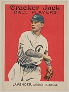 Lavender, Chicago, National League, from the Ball Players series (E145) for Cracker Jack
