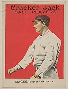 Magee, Boston, National League, from the Ball Players series (E145) for Cracker Jack