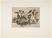 Plate 2 from 'The Disasters of War' (Los Desastres de la Guerra): 'Rightly or wrongly' (Con razon ó sin ella.)