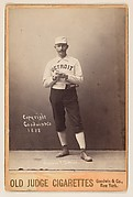 Charlie Getzein, Pitcher, Detroit, from the series Old Judge Cigarettes