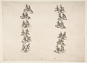 Twenty-four Cavaliers Fighting in Two Columns