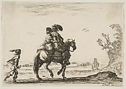 A Cavalier and a Woman Mounted on a Horse