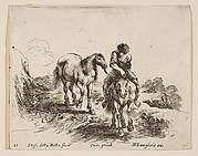 Young Horseman Leading a Horse