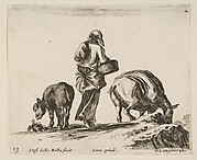 A Peasant Woman, Seen from the Back, Holding a Basket