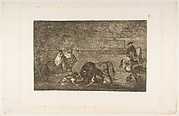 The Dogs Let Loose on the Bull; Tauromaquia, plate C