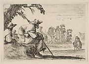 Pilgrims resting