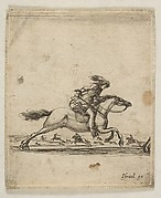 Cavalier, Sword in Hand, Galloping Towards the Right