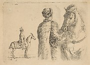 The Polish Groom, from the Back, Holding a Horse by the Bridle