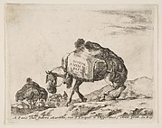 Frontispiece for Diversi Animali: Pack Horse