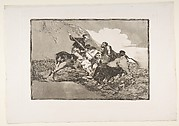 Plate 1 from 'The Tauromaquia': The way in which the ancient Spaniards hunted bulls on horseback in the open country