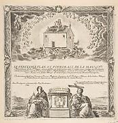 Frontispiece for Le Véritable Plan et Pourtrait de la Maison de la Ste. Vierge