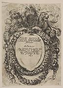 Cartouche with Title: Nouvelles inventions de Cartouches