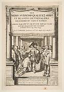 Frontispiece to Pierre d'Hozier's Les Noms,...de chevaliers de l'ordre du Sainct Esprit
