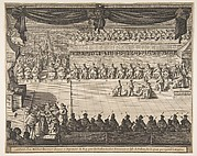 Seating Arrangement of the Chevaliers of the Order of the Holy Spirit (Disposition de la scéance)