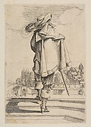 Gentleman in a Cape and Plumed Hat Seen from the Back
