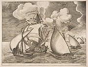 Fleet of Galleys Escorted by a Caravel from The Sailing Vessels